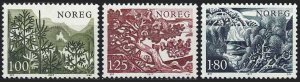 Norway 1977 #695-7 MNH. Trees