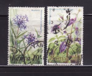Kenya 259-260 U Flowers (D)