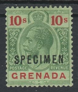 GRENADA 1913 KGV SPECIMEN 10/- WMK MULTI CROWN CA