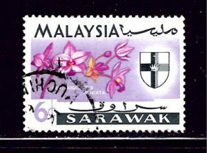 Sarawak 231 Used 1965 Flowers