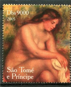 Sao Tome & Principe 2005 RENOIR NUDES Paintings 1 value Perforated Mint NH