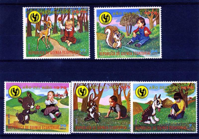Equatorial Guinea MNH UNICEF Year Of The Child Cartoons 1979