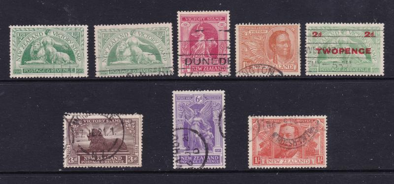 New Zealand the 1920 Victory set used