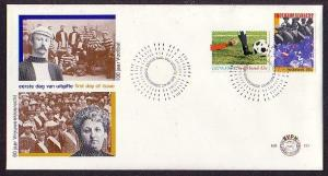 Netherlands, Scott cat. 590-591. Soccer & Voting issues. First day cover.