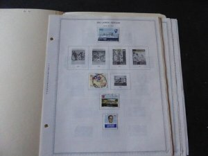 Sri Lanka 1973-1989 Stamp Collection on Album Pages