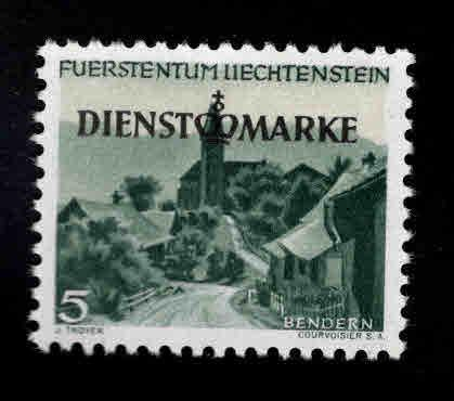LIECHTENSTEIN Scott o30  MH* Official stamp
