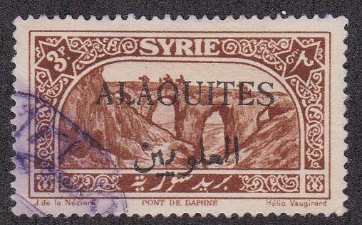 Alaouites # 34, Syrian stamp overprinted, Used,