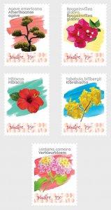 Caribbean Netherlands 2020 Flowers (Bonaire) - 5v MNH
