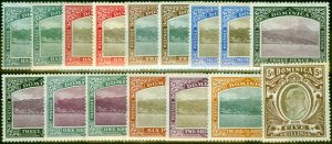 Dominica 1903 Extended Set of 16 SG27-36 Fine Mtd Mint All Papers CV £510