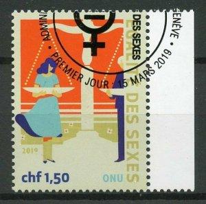 United Nations UN Geneva 2019 CTO Definitive Gender Equality 1v Set Stamps