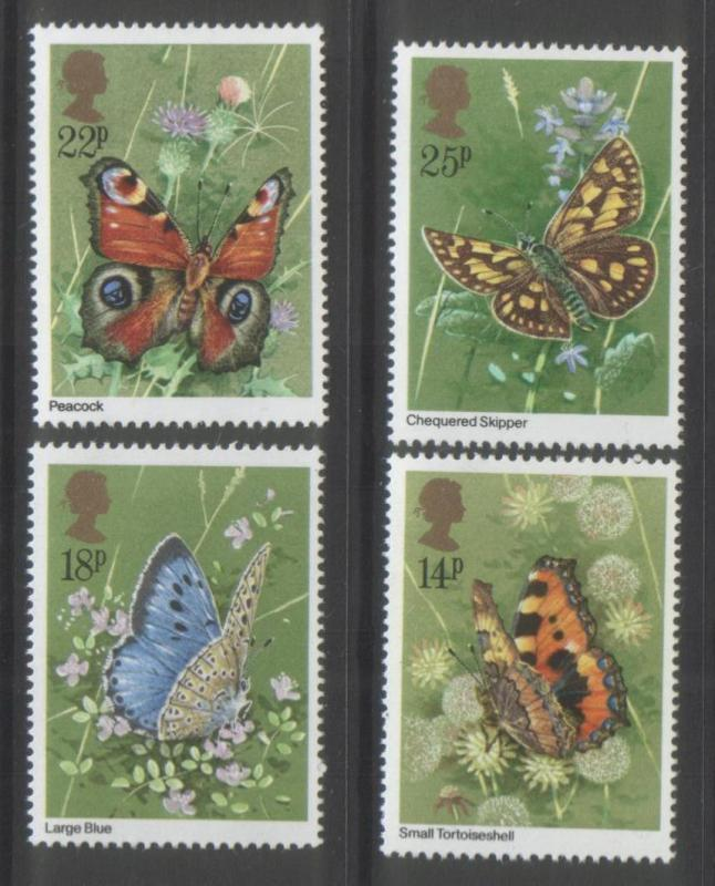 Great Britain 1981 Butterflies (4) Scott #941-944