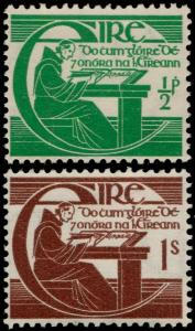 ✔️ IRELAND 1944 - MICHAEL O'CLERY - SC. 128/129 MNH OG [IR0093]