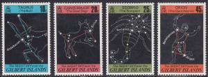 Gilbert  Islands 308-311 Night Sky over Giibert Islands 1978