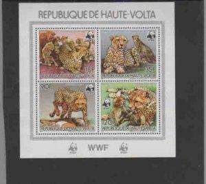 BURKINA FASO #654-657  1984  WWF MINT VF NH  O.G  UNLISTED S/S