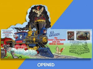 SESCAL 2019 Celebrates Transcontinental Railroad Sesquicentennial • Pop-Up FDC