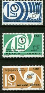 MEXICO 1162,C574-C575 PanAm Inst. of Geography & History MNH