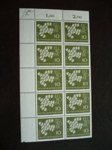 Europa 1961 - Germany - Corner Block of 10