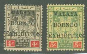 Malaya Kelantan 3a-4a Mint F-VF H