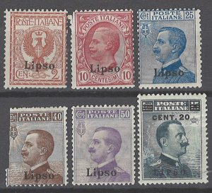 COLLECTION LOT # 2133 ITALY LISSO 6 STAMPS 1912+