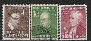 COLLECTION LOT OF 3 GERMANY  SEMI POSTAL 1951+ STAMPS CV = $26