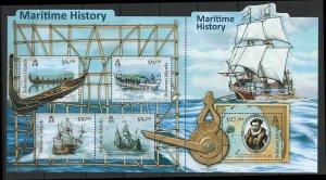 Solomon Islands Scott 1170 Souvenir Sheet MNH! Maritime History!