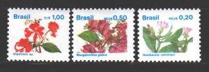 Brazil. 1989. 2303-5. Impatiens Waller - medicinal plant, cactus. MNH.