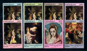 [72409] Paraguay 1967 Religious Paintings Birth Christ Madonna  MNH