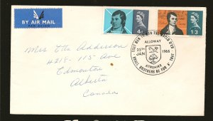 Great Britain 444-445 on Postmarked 1966 First Day Cover Used