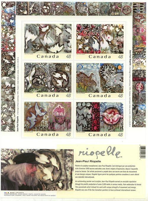 Canada - 2003 Riopelle Pane of Six mint #2002