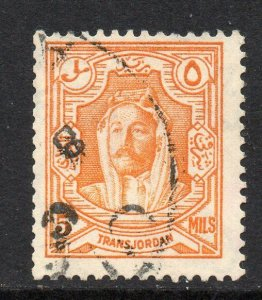 Transjordan 1930 5m perf 13½x14 Coil stamp SG 198a used