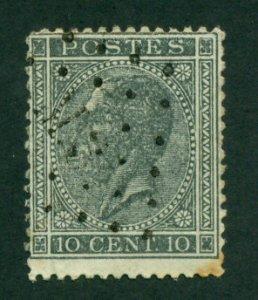 Belgium 1867 #18 U SCV(2020) = $2.25
