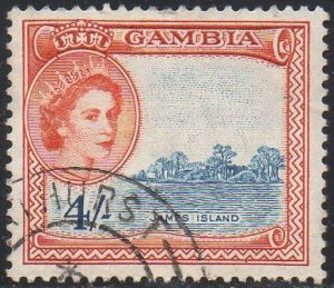 Gambia 1953 4/- James Island used