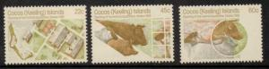 COCOS (KEELING) ISLANDS SG62/4 1981 OPENING OF ANIMAL QUARANTINE STATION MNH