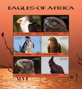 Gambia 2018 Birds - Tawny Eagle (ss/6v)