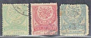 TURKEY  SCOTT# 67-69 **USED** 1881-82      SEE SCAN