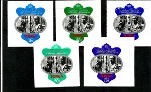 TONGA - 1977 - QEII Silver Jubilee, Queen Salote - Perf 4v Set - M N H
