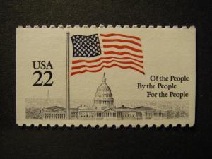 Scott 2116, 22c Flag over Capitol, Booklet single, MNH Beauty