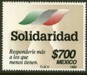 MEXICO 1656, Government's Solidarity Official Program MNH