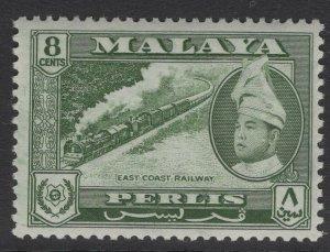 MALAYA PERLIS SG33 1957 8c MYRTLE-GREEN MNH