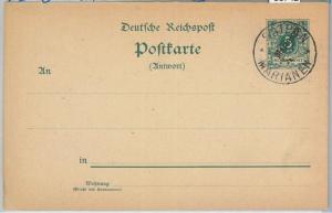 66742 - GERMANY Reich - Postal History -  POSTAL STATIONERY CARD:  P1 Marianen