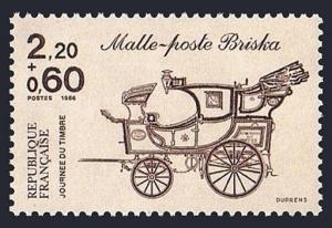 France B581, MNH. Mail Britzska. Stamp Day, 1986