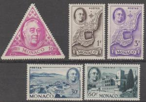 Monaco #198-202  F-VF Unused CV $5.25 (ST998)