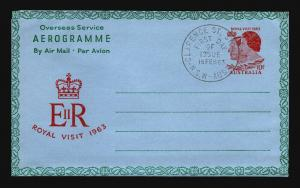 Australia - 3 1960s Aerogramme Event / FDC Covers - Z15492