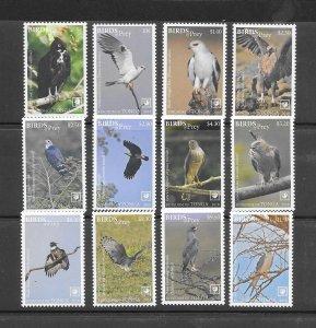 BIRDS - TONGA #1346-57   BIRDS OF PREY  MNH