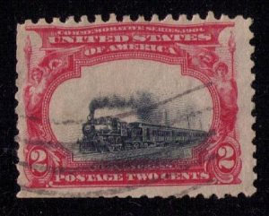 US Scott #295 Used Variety Low Train Vignette Shift ErrorW/Black Canal F-VF