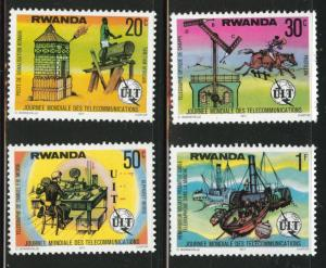 RWANDA Scott 809-812 MH* ITU short set stamps