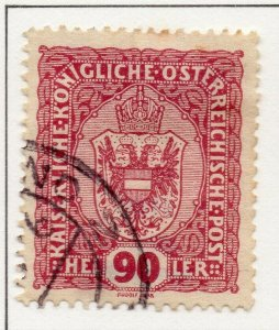 Austria 1916 Early Issue Fine Used 90h. NW-38049