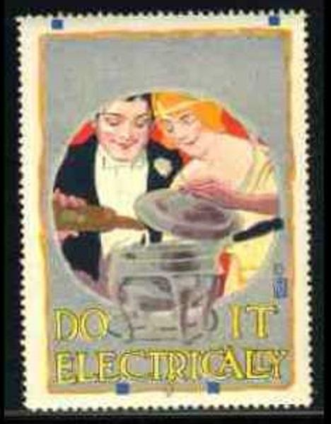 Do It Electrically - Chafing Dish  Advertising Poster Stamp