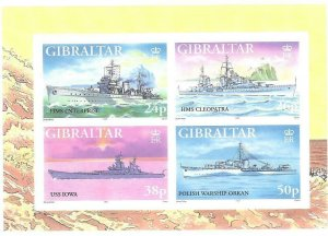1997    GIBRALTAR  -  SG.  MS  809  -  WARSHIPS   -  ISSUE 5 -   MNH