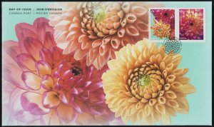Canada new issue on FDC - Flowers, Dahlia